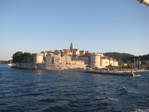 Korčula from the sea