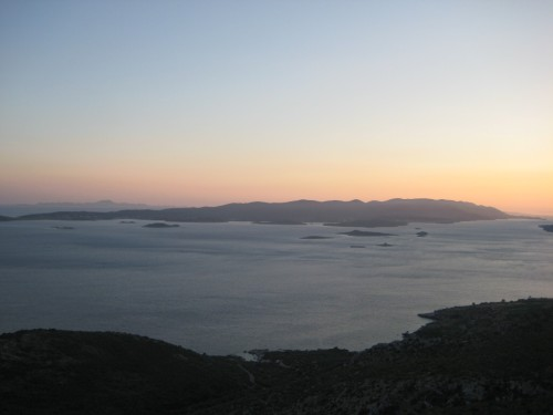 Korčula from Pelješac peninsula
