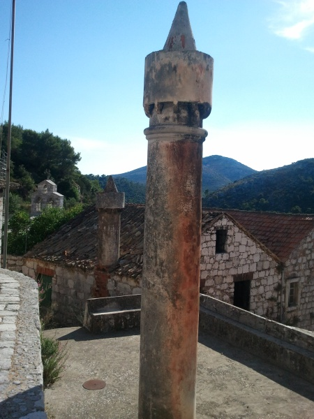 Typical Lastovo Fumar (chimneys)